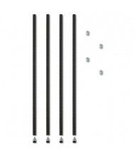 "Alera SW59PO36BL 36"" H 4-Pack Stackable Posts for Wire Shelving, Black"