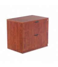 "Alera Valencia 2-Drawer 34"" W Lateral File Cabinet, Letter & Legal Size, Medium Cherry"