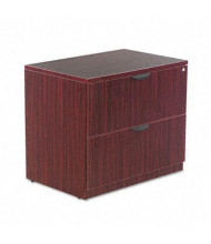 "Alera Valencia VA513622MY 2-Drawer 34"" W Lateral File Cabinet, Letter & Legal Size,  Mahogany"