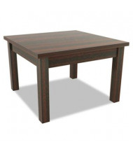 Alera Valencia VA7524MY Mahogany Woodgrain Laminate Corner Occasional Table