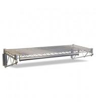 """Alera 48"""" W Wire Wall Shelf Rack, Silver"""