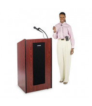 AmpliVox Presidential Plus Wireless Sound System Lectern, Medium Oak
