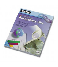 "Apollo 8-1/2"" x 11"", 50-Sheets, Color Laser Printer Transparency Film"
