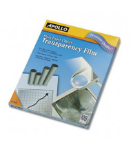 "Apollo 8-1/2"" x 11"", 100-Sheets, Laser Printer Transparency Film"