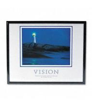 "Advantus ""Vision Lighthouse"" Framed Motivational Print, 30"" W x 24"" H"