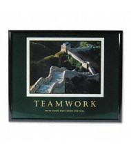 """Advantus """"Teamwork"""" Framed Motivational Print, 30""""W x 24""""H"""