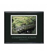 "Advantus ""Communication"" Framed Motivational Print, 30"" W x 24"" H"