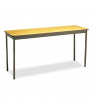 "Barricks UT1860LQ 60"" W x 18"" D Rectangular Utility Table, Oak"