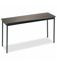 "Barricks UT1860WA 60"" W x 18"" D Rectangular Utility Table, Walnut"