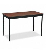 "Barricks UT244830WA 48"" W x 24"" D Rectangular Utility Table, Walnut"