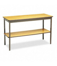 "Barricks UTS1848LQ 48"" W x 18"" D Rectangular Utility Table, Oak"