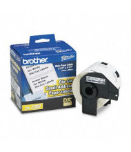 "Brother DK1209 Die-Cut 1.1"" x 2.4"" Paper Address Label Roll, White, 800/Roll"