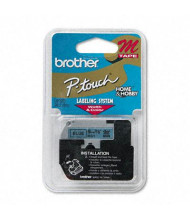 "Brother P-Touch M521 M Series 3/8"" x 26.2 ft. Tape Cartridge, Black on Blue"