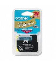 """Brother P-Touch M531 M Series 1/2"""" x 26.2 ft. Tape Cartridge, Black on Blue"""