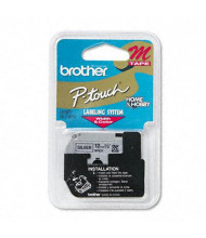 """Brother P-Touch M931 M Series 1/2"""" x 26.2 ft. Tape Cartridge, Black on Silver"""