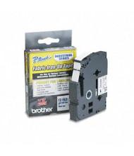 "Brother P-Touch TZEFA3 TZ Series 1/2"" x 9.8 ft. Fabric Iron-On Tape, Navy on White"
