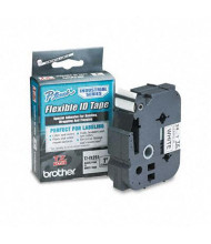 "Brother P-Touch TZEFX251 TZe Series 1"" x 26.2 ft. Flexible Tape Cartridge, Black on White"