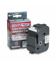 "Brother P-Touch TZES261 TZe Series 1-1/2"" x 26.2 ft. Labeling Tape, Black on White"