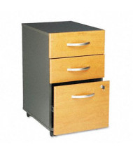 Bush WC72453SU Series C 3-Drawer Box/Box/File Mobile Pedestal File, Natural Cherry