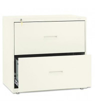 "Basyx 432LL 2-Drawer 30"" W Lateral File Cabinet, Letter & Legal Size, Putty"