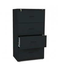 "Basyx 434LP 4-Drawer 30"" Wide Lateral File Cabinet, Letter & Legal Size, Black"