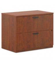 "Basyx BL2171A1A1 2-Drawer 35.5"" Wide Lateral File Cabinet, Letter & Legal Size, Medium Cherry"