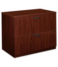 "Basyx BL2171NN 2-Drawer 35.5"" Wide Lateral File Cabinet, Letter & Legal Size, Mahogany"