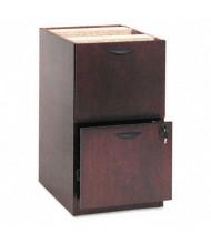 Basyx Veneer 2-Drawer File/File Pedestal, Mahogany