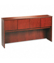 "Basyx BW 72"" 4-Door Wood Veneer Hutch, Bourbon Cherry"