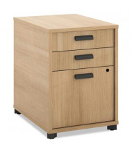 Basyx Manage MGPEDWHA1 3-Drawer Pencil/Pencil/File Pedestal, Wheat