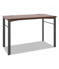"Basyx Manage 48"" W Computer Table Desk, Chestnut"