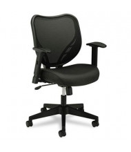 Basyx VL551 Mesh-Back Fabric Mid-Back Task Chair