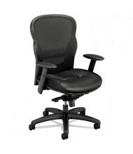 Basyx VL701 Mesh-Back Leather High-Back Task Chair