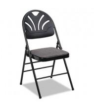 Bridgeport Fanfare Molded Plastic-Back Fabric Folding Chair, 4-Pack