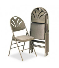 Bridgeport Fanfare 36875KN Molded Plastic-Back Fabric Folding Chair, 4-Pack