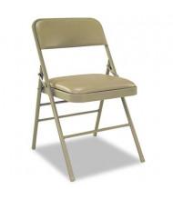 Bridgeport 60883 Deluxe Vinyl Padded Folding Chair, 4-Pack