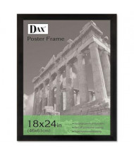 "DAX Black Solid Wood Poster Frame with Plastic Window, 18"" W x 24"" H"