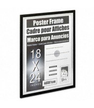 "DAX Metro Wood Poster Frame, 18"" W x 24"" H, Black and Silver"