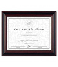 "DAX Two-Tone Document Frame, 8.5"" W x 11"" H, Rosewood and Black"