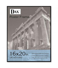 "DAX Coloredge Poster Frame, 16"" W x 20"" H, Black Border"