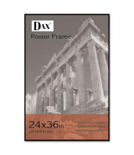 "DAX Coloredge Poster Frame, 24"" W x 36"" H, Black Border"