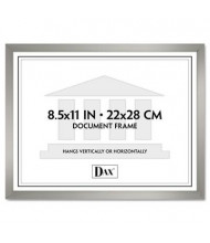 "DAX Value U-Channel Document Frame, 8.5"" W x 11"" H, Silver"