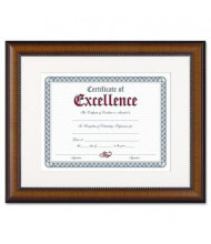 """DAX Prestige Document Frame, 11"""" W x 14"""" H, Walnut and Black"""