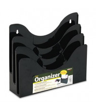 Deflect-o Three-Tier Document Organizer With Adjustable Dividers, Black