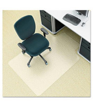 "Deflect-o EnvironMat Low Pile Carpet 45""W x 53"" L, Straight Edge Chair Mat CM1K232"