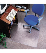 "deflect-o EconoMat Low Pile Carpet 36"" W x 48"" L with Lip, Straight Edge Chair Mat CM21112"
