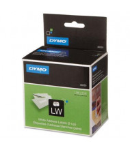"""Dymo LabelWriter 1-1/8"""" x 3-1/2"""" 2-Up Address Labels, White, 700/Pack"""