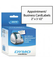"""Dymo LabelWriter 30374 2"""" x 3-1/2"""" Business Cards, White, 300/Pack"""