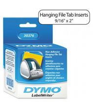 "Dymo LabelWriter 30376 9/16"" x 2"" Hanging File Folder Tab Inserts, White, 260/Pack"