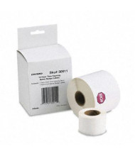 """Dymo 30911 2-1/4"""" x 4"""" Time-Expiring Name Badge Labels, White, 250/Pack"""